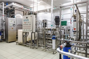 Water conditioning room and control way equipment on pharmaceutical industry or chemical plant